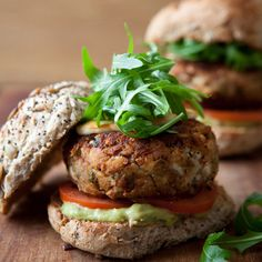 Either enjoy these bean burgers with all the trimmings, or just the halloumi for a lower calorie count. Taken from The Ultimate 5:2 Diet Recipe Book