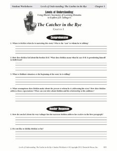 Printables Catcher In The Rye Worksheets popular activities and novels on pinterest specific guide title challenges students domains based catcher in the rye lessons learning helpful worksheets