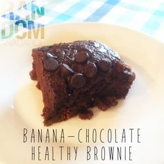 BANANA-CHOCOLATE HEALTHY BROWNIE Healthy Brownies, Healthy Treats, Original Recipe, Clean Eating, Brunch, Coconut, Banana, Chocolate, Cake