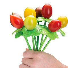 Food picks to turn boring crudités into a bouquet.
