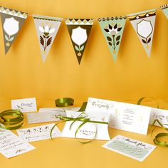 Urban Floral Party Suite: Invites, Thank Yous, Menus, Garland, etc. Collaboration with Jill DeHaan
