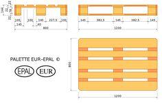 Plan palette-europe - EUR-pallet - Wikipedia, the free encyclopedia Coin Palette, Pallette, Table Palette, Pallet Seating, Pallet Crates, Wood Pallets, Euro Pallets, Free Pallets, Pallet Furniture