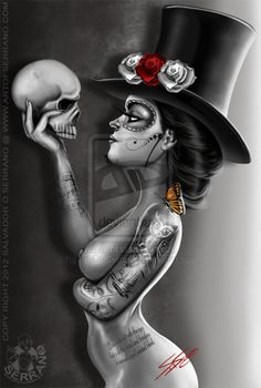 "Skulls: #Skull ~ ""Lasting Love,"" by Art-Of-Serrano, at deviantART."