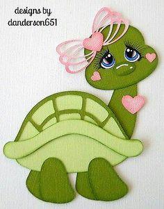Halloween Paper Piecing Premade 4 Border Scrapbook Album Danderson 651 for sale online Foam Crafts, Diy And Crafts, Crafts For Kids, Arts And Crafts, Paper Crafts, Baby Scrapbook, Scrapbook Paper, Cute Turtles, Turtle Love