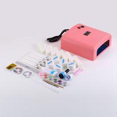 1pcs 36w led lamp nail Nail Art UV Gel Manicure Lamp Bulbs Dryer Glitter Polish Curing Tips Set Kit uv lamp