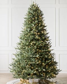 Balsam Hill Cathedral Fir Christmas Tree perfect for an entryway, foyer or mudroom