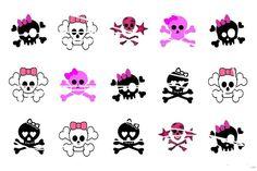 Free: Girly Skulls Digital Bottlecap Image sheet E-MAILED Ready to print 231 - Scrapbooking & Paper Crafts Girly Skull Tattoos, Sugar Skull Tattoos, Sugar Skulls, Zealand Tattoo, Image Sheet, Skull Wallpaper, Bottle Cap Crafts, Bottle Cap Images, Sleeve Tattoos
