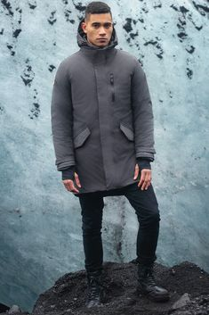 Cold Weather Jackets, Cold Weather Outfits, Warm Outfits, Winter Outfits, Winter Jackets, Mens Parka Jacket, Snow Wear, Athleisure Outfits, Men's Coats And Jackets