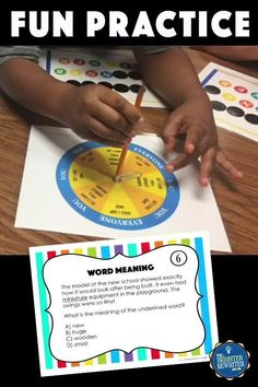 32 task cards, a spinner game, and a worksheet give students in 3rd & 4th practice identifying word meanings using context clues. Multiple-meaning words and words with a prefix or suffix are included in the mix! Small Group Games, Small Group Reading, Small Groups, Response To Intervention, Multiple Meaning Words, Learning Games For Kids, Context Clues, Prefixes, Upper Elementary