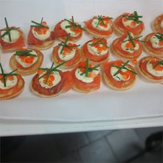 Smoked salmon blinis are always at hit. Eat Well Corporate Catering. Sydney. Find us on Facebook