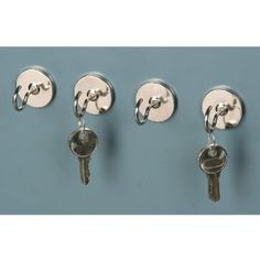 "4pc Magnetic Utility Hook Set by TruePower. $4.48. Zinc-plated steel hooks resist rust and corrosion. Overall dimensions: 1-3/8"" diameter x 1-1/8"" L. Heavy duty magnets. Attach to any metal surface. These heavy duty magnet hooks attach to appliances, cabinets or any other metal surface to provide a convenient handing spot for keys, small tools, leashes, decorative lighting and more! These zinc-plated magnetic hooks resist rust and corrosion making them ideal for long..."