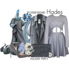 Hades by leslieakay on Polyvore featuring Jimmy Choo, Friis & Company, Alexander McQueen, Swarovski, Alexis Bittar, L. Erickson, women's clothing, women's fashion, women and female