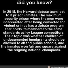 In yo face!  #wow #interesting #debate #Harvard   Share the helpful knowledge! Tag your friends in the comments.  We post different content on all our different social media channels. Follow all our accounts so you don't miss out! http://facebook.com/didyouknowblog http://didyouknowblog.com http://twitter.com/didyouknowfacts http://fact-snacks.com  #DYN #FACTS #TRIVIA #TIL #DIDYOUKNOW #NOWIKNOW