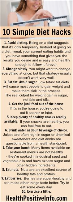 10 Simple Diet Hacks