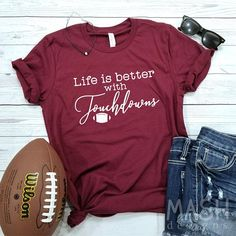tailgate shirt football tailgate tailgating shirt saturdays are for tailgating shirt game day shirt football season tailgate game day Football Fan Shirts, Football Cheer, Football Tailgate, Sports Shirts, Football Season, Tailgating, Football Moms, Softball, Football Tshirt Designs