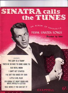 Frank Sinatra Favourite Songs Book of Sheet music for Piano & Voice