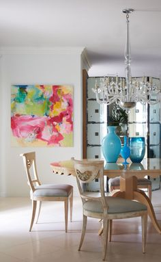 Dining Room in Palm Beach, FL by Jan Showers & Associates