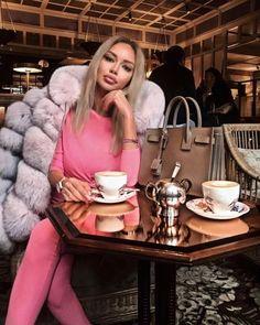Suede Striped Fox Fur Coat With Removable Sleeves Grey Faux Fur Coat, Fox Fur Coat, Good Morning Coffee, Coffee Break, Fur Fashion, Autumn Fashion, Fashion Women, Style Fashion, Coffee And Cigarettes