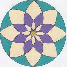 lotus mandala - idea for painted yurt floor.