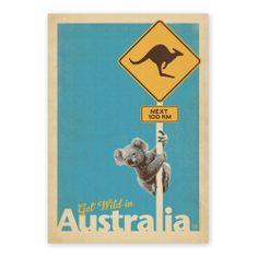 Koala A2 Art Print by Vintage Travel Prints on POP.COM.AU
