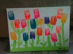 Flores com garfo