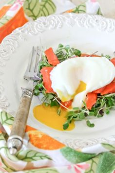 """Smoked Salmon, Poached Eggs and Micro Greens"""