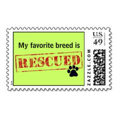 My Favorite Breed Is Rescued Stamp. This great business card design is available for customization. All text style, colors, sizes can be modified to fit your needs. Just click the image to learn more!