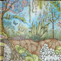 Take a peek at this great artwork on Johanna Basford's Colouring Gallery! Adult Coloring, Coloring Books, Colouring, Johanna Basford Coloring Book, Coloured Pencils, Color Pencil Art, Prismacolor, Color Inspiration, Tapestry