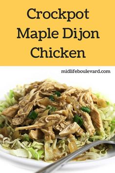 Nancy Fox shares incredible recipes over at her website, Skinny Kitchen. All recipes, like this Best Slow Cooker, Slow Cooker Recipes, Crockpot Recipes, Healthy Recipes, Healthy Food, Healthy Options, Eating Healthy, Maple Dijon Chicken, Incredible Recipes