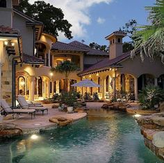 Having a pool sounds awesome especially if you are working with the best backyard pool landscaping ideas there is. How you design a proper backyard with a pool matters. Dream Pools, Cool Pools, House Goals, Pool Designs, My Dream Home, Dream Big, Exterior Design, Exterior Homes, Future House