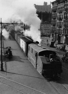 Freight train in city (Street Life, Unid. Location) series Lewis W. Hine, American, 1874 - 1940 ca. 1915 gelatin silver print x cm. Lewis Hine, Gelatin Silver Print, Tumblr, Working With Children, City Streets, Fine Art Gallery, Fine Art Photography, United States, American