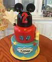 Mickey Mouse Club House cake with 3D handy helper and 3d ears #peridotsweets