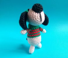 Christmas Dog Ornament 2018 The Year of the Dog gift Amigurumi