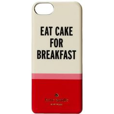 Kate Spade New York Eat Cake For Breakfast Phone Charger for iPhone®5... ($120) ❤ liked on Polyvore featuring accessories, tech accessories, phone cases, multi, green headphones, iphone headphones, kate spade and apple iphone headphones