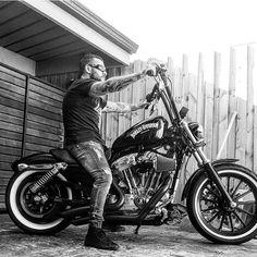 Sportster biker.