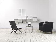 Saxe designed by Mogens Lassen in 1955, Twin table in brass/misty green.