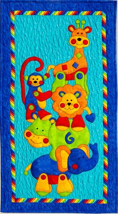 Kids Quilts - Animal Stackers Pattern