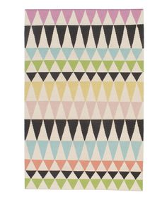 Loving this Black & Lilac Triangle Flatweave Wool Rug on #zulily! #zulilyfinds