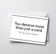 Funny Middle Birthday Card - You Deserve More Than Just One Card. - Funny Middle Birthday Card – You Deserve More Than Just One Card. Birthday Card Sayings, Birthday Cards For Friends, Bday Cards, Birthday Gifts For Best Friend, Funny Birthday Cards, Diy Birthday, Best Friend Gifts, Card Birthday, Funny Cards For Friends