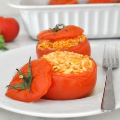 Cooking with Manuela: Italian Rice-Stuffed Tomatoes
