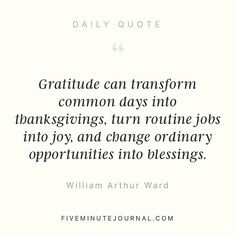 Gratitude can transform common days into thanksgivings turn routine jobs into joy and change ordinary opportunities into blessings. -William Arthur Ward    #growthmindset #gratitude  I have written multiple posts on Instagram and on my blog about how practicing gratitude has fundamentally changed me however it wasn't until I read 10% Happier by Dan Harris (@danharris) that I understood how becoming self aware was what really set things apart!  Expressing gratitude was really my first step to…
