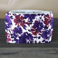 Plum and Violet Abstract Floral Cosmetic Bag – Le Pique Nique, $13.95