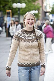 Thingvellir pattern by Linnea Ornstein - fair isle - Geothermal Energy Fair Isles, Fair Isle Knitting, Stockinette, Sweater Fashion, Knit Crochet, Knitting Patterns, Feminine, Etsy, Knit Sweaters