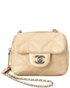 Spotted this Chanel Gold Quilted Lambskin Mini Flap Bag on Rue La La. Shop (quickly!).