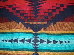Vintage Native American Inspired Blanket Tribal by boxerlovinglady