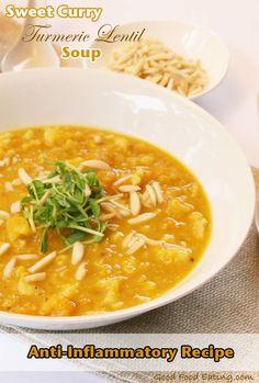 Anti-Inflammatory Recipe: Sweet Curry Turmeric Lentil Soup