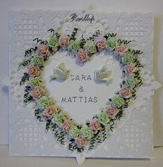 Bröllops kort med rosor