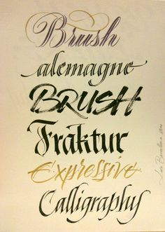 Examples By Luca Barcellona - Calligraphy  Lettering Arts