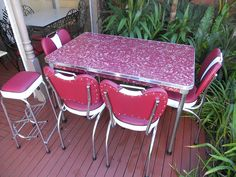 Granny S Restored Retro Kitchen Setting Laminex Formica Table 4 Chairs Stool In Gippsland Vic