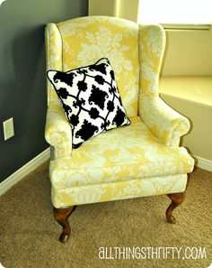How to Upholster a Wing Back Chair